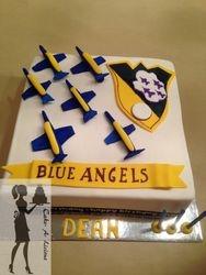 Blue Angels themed Choc mud cake